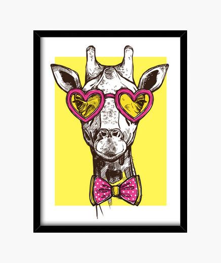 Cuadro jirafa hipster