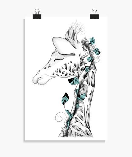 Póster jirafa poética