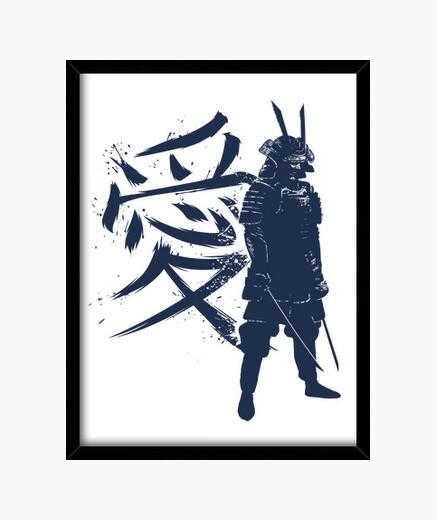 Cadre kanji samurai