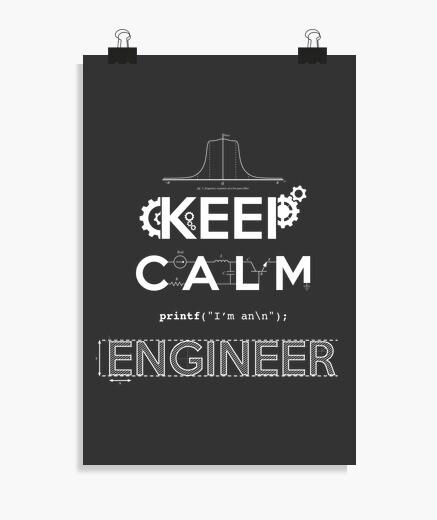 Poster keep calm  je suis ingénieur