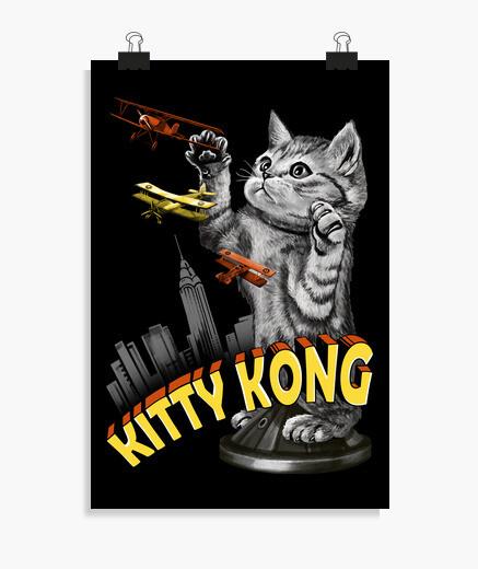 Poster kitty kong