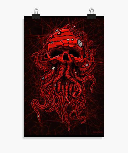 Póster kraken rojo