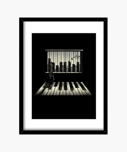 Cuadro la música es vida