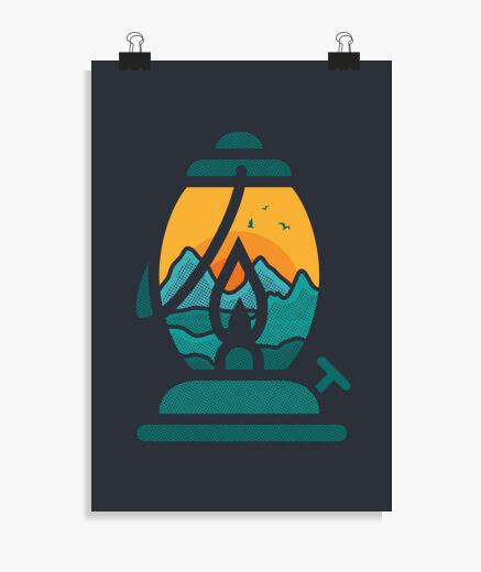 Poster Lampe à pétrole