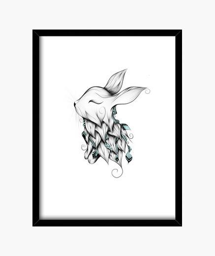 Cadre lapin poétique