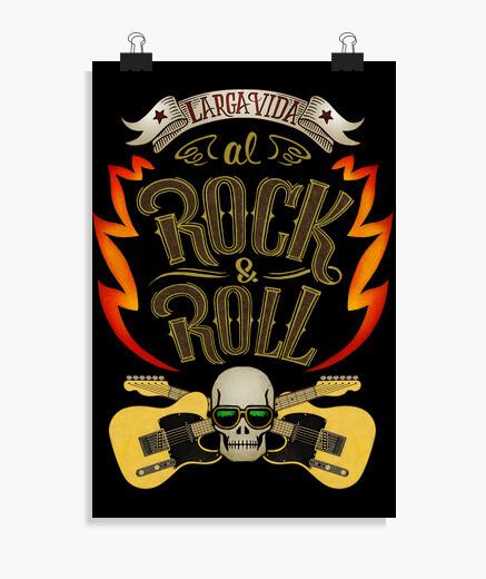 Póster Larga vida al rock and roll