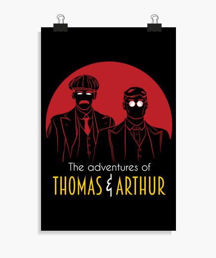 Póster las aventuras de thomas y arthur