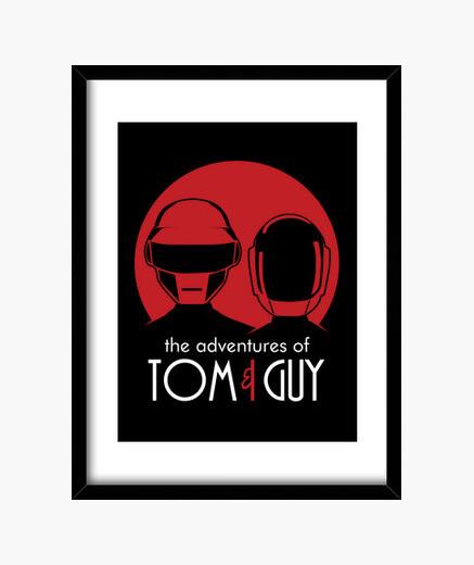 Cuadro las aventuras de tom y del individuo