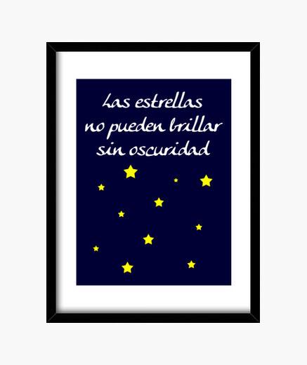 Cuadro Las estrellas no pueden brillar...