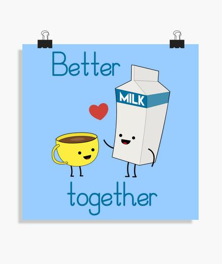 Poster latte e caffè