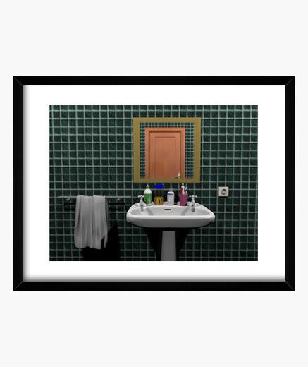 Cuadro Lavabo en un cuarto de baño