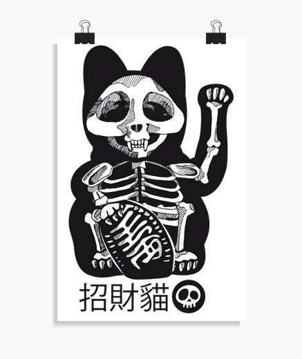 Poster le chat contceux