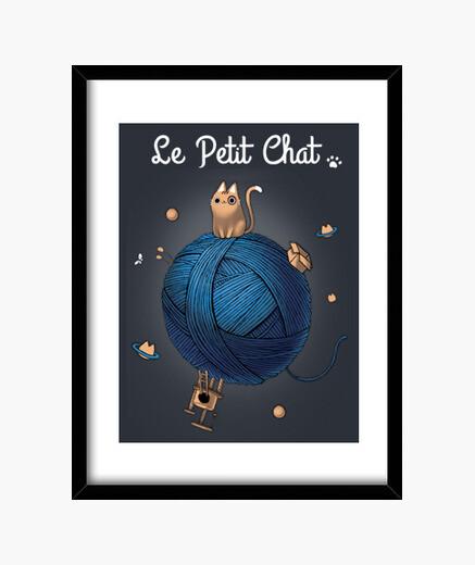 Cuadro Le petit chat print