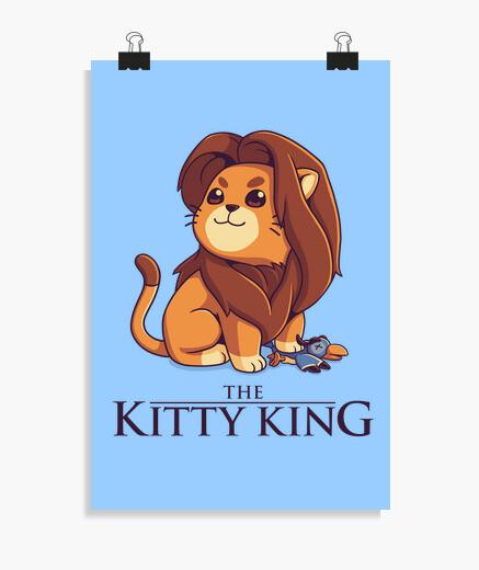 Poster le roi kitty - lumière voir