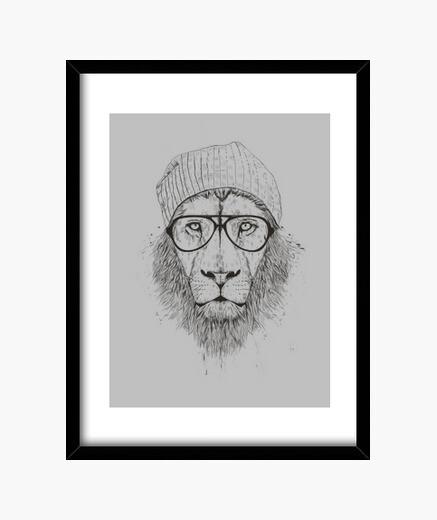 Cuadro león fresco (bw)