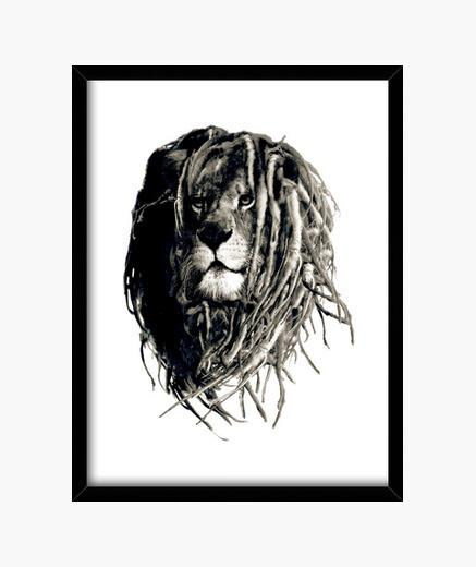 Quadro leone rasta