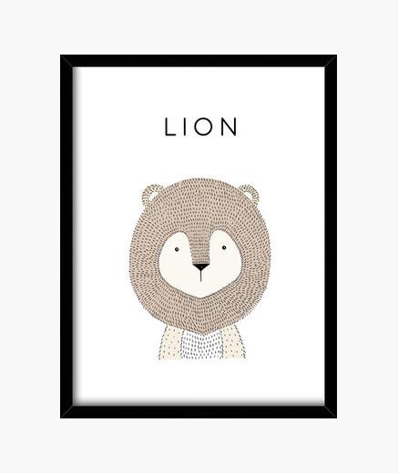 Cuadro Lion