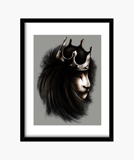 Cuadro Lion Throne