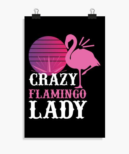 Póster loca dama flamenco