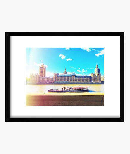 Londres - Cuadro con marco negro horizontal 4:3 (20 x 15 cm)
