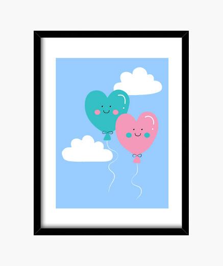 Cuadro Love balloons