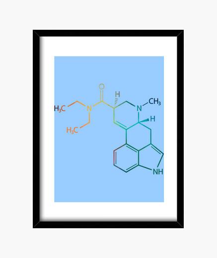 Cuadro LSD Fórmula Química
