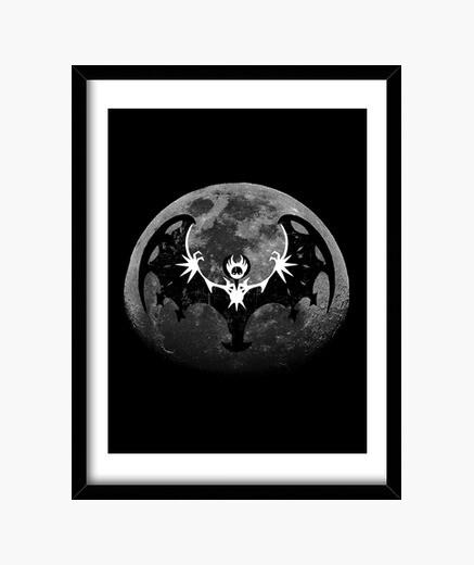 Cuadro luna negro