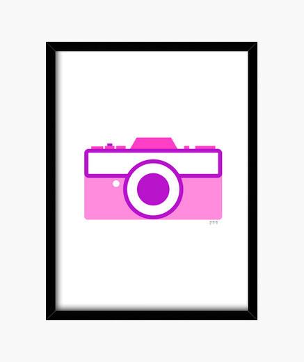Quadro macchinetta fotografica fotografica