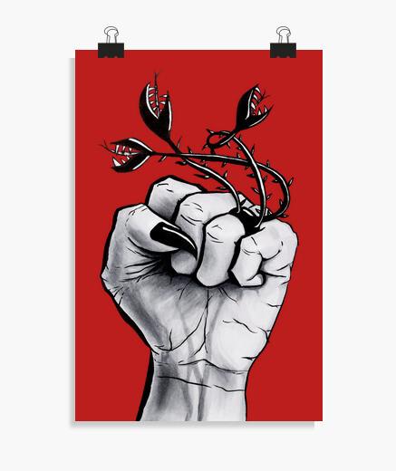 Poster main sorcière avec clous noirs et...