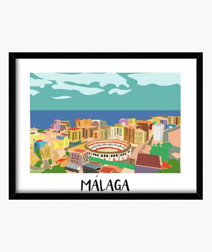 Málaga Cuadro con marco horizontal 4:3...