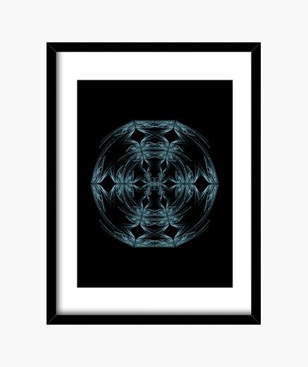 Cuadro Mandala azul y blanco