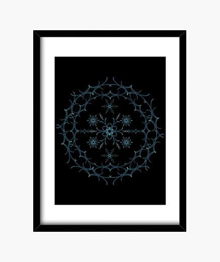 Cuadro Mandala floral