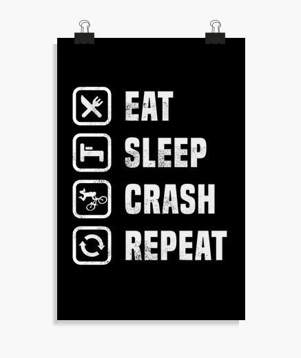 Poster manger du sommeil crash répéter...