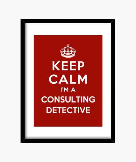 Cuadro mantener la calma im un detective consultor