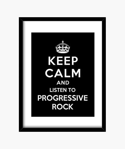 Cuadro mantener la calma y escuchar rock progresivo