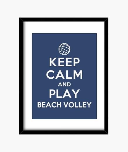 Cuadro mantener la calma y jugar voleibol de playa