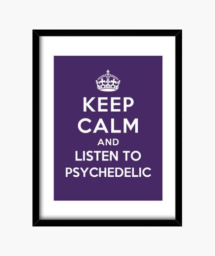 Quadro mantenere la calma e ascoltare psichedelica