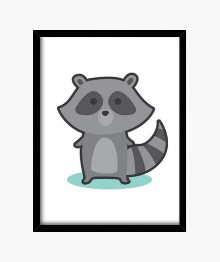 Cuadro Mapache gris