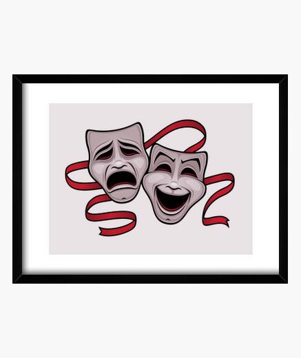 Cuadro Máscaras de teatro de comedia y...