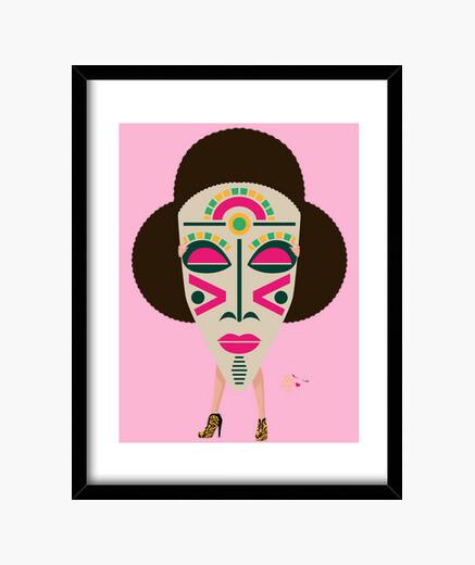 Quadro maschera africana 5