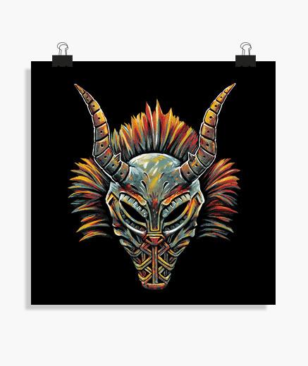 Poster maschera tribale del killmonger