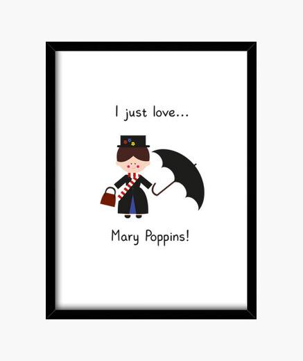 Cuadro me encanta mary poppins