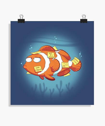 Póster Memoria pez