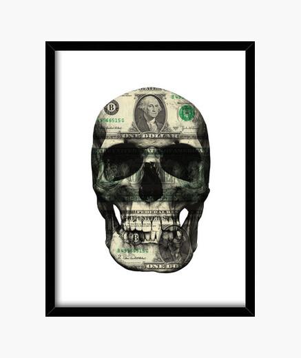 Mental cancer framed print