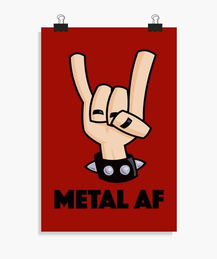 Poster metallo di corna da diavolo