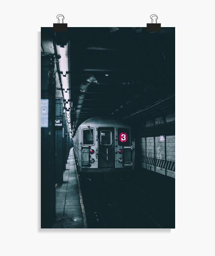Póster Metro de Nueva York - Línea 3