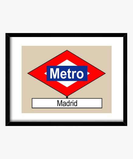 Cadre metro plaque madrid