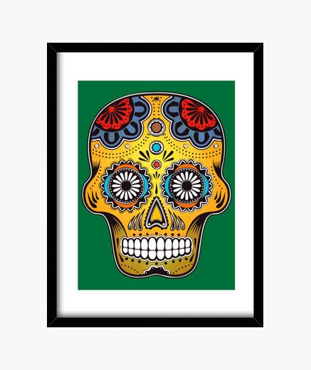 Cuadro Mexico Color Skull