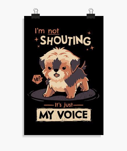 Póster Mi voz Yorkshire Terrier Perro Poster
