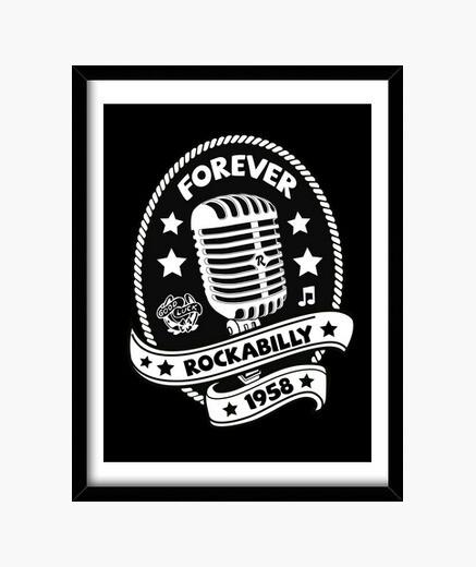 Quadro microfono vintage microfono musica rockabilly rockers vintage usa rock and roll